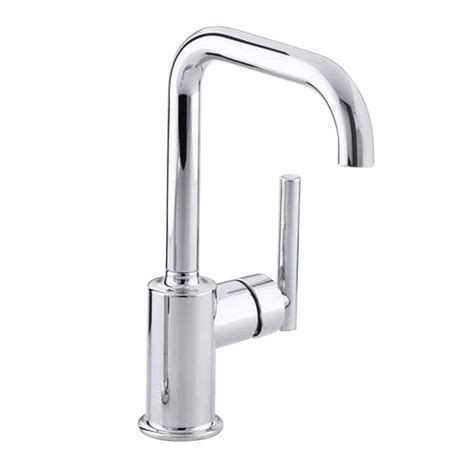 kitchen faucet spout kohler purist single handle standard kitchen faucet with secondary swing spout in polished