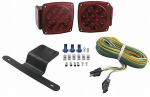 Submersible  Under 80 U0026quot  Led Trailer Light Kit With 25 U0026 39  Wiring Harness Optronics Trailer Lights Tll9rk