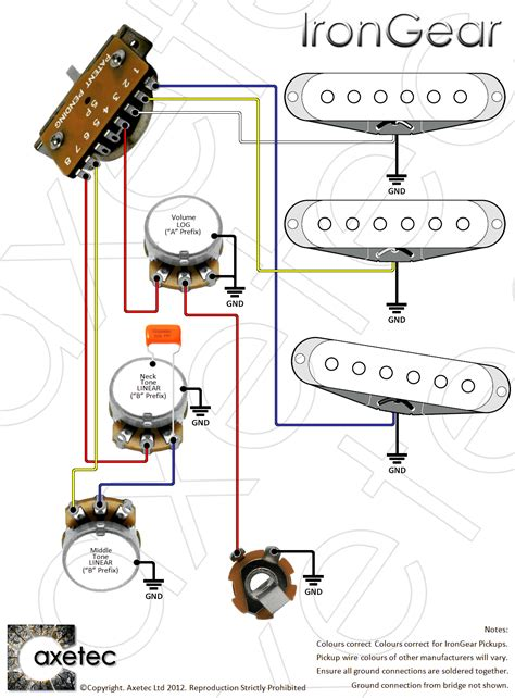 Guitar Parts From Axetec Position Lever Switches