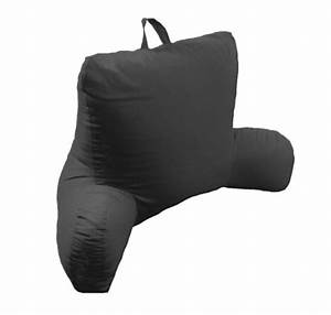 arlee micro suede bed rest lounger black home garden With black backrest pillow