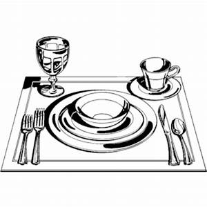 Black And White Place Setting Clipart 87925 | MEDIABIN