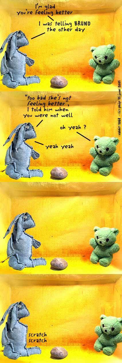 Rabbit Comics  Glad You're Feeling Better