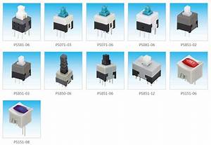 6 Pin Push Button Switch Ps851-06 Non-shorting Type