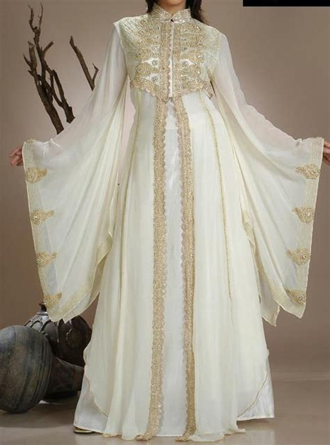 white gold abaya women  fashion dubai wedding