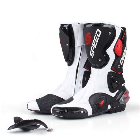 sport motorcycle shoes men motorcycle leather boots boot shoes waterproof