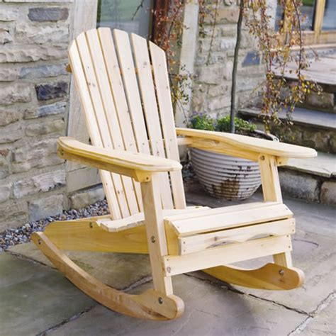 garden patio wooden rocking chair with luxury blue cushion