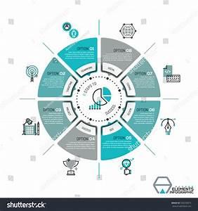 Unique Infographic Design Template Circular Diagram Stock