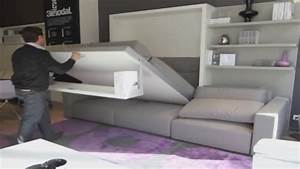 Lit Armoire Gain De Place : armoire lit escamotable swing bimodal par la maison du ~ Premium-room.com Idées de Décoration