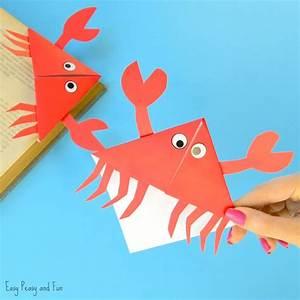 Crab Corner Bookmarks - Ocean Animals Origami for Kids