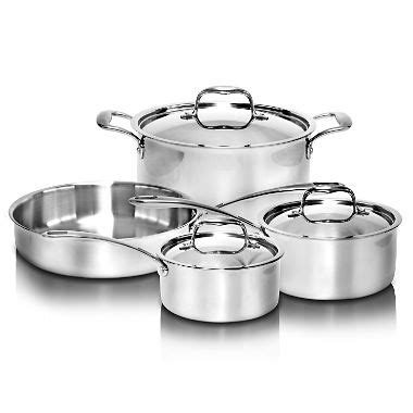 Stainless Steel Triply Cookware Set (7 Pc)  Sam's Club