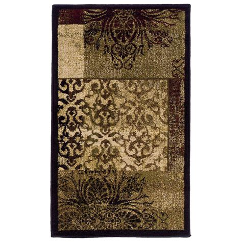 allen roth rugs shop allen roth harrisburg rectangular multicolor transitional woven accent rug common 2 ft