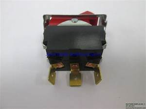Carling Auto Manual Red Rocker Switch 3