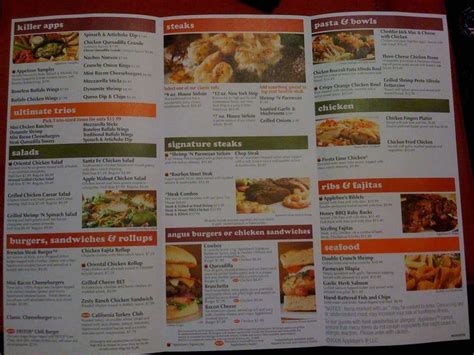 applebee s light menu applebee s menu menu for applebee s heights