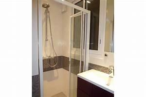 Salle de bain et salle d'eau dans petit espace Yves Clément Architecte intérieur Cholet 49
