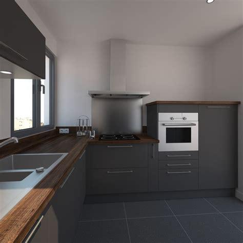 cuisine cagnarde grise cuisine grise porte effet touch ginko gris mat