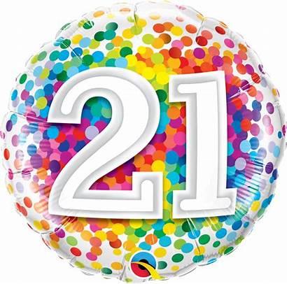 21st Birthday Happy Balloon Clipart Transparent Clip