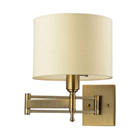 titan lighting pembroke 1 light antique brass swing arm