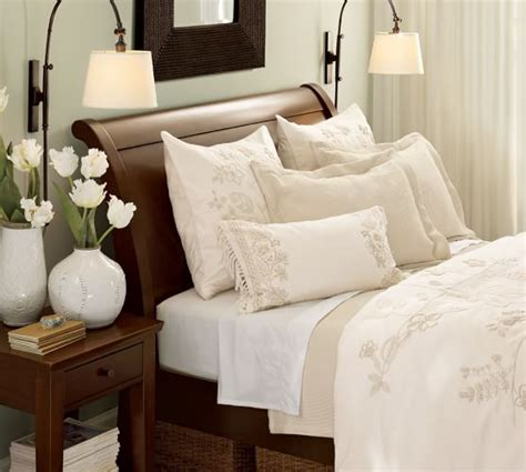pottery barn beds valencia sleigh bed pottery barn