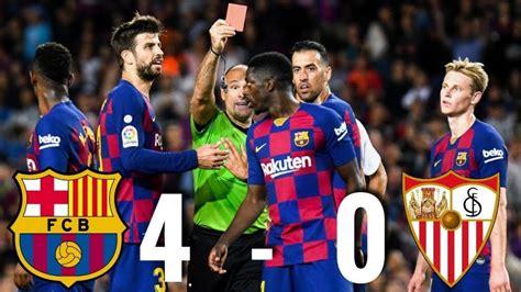 Hasil Pertandingan La Liga Barcelona vs Sevilla Musim 2019 ...