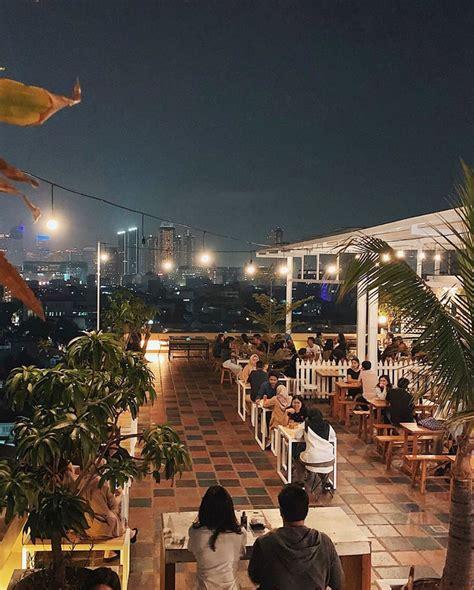 langit seduh tempat ngopi rooftop  instagramable  jakarta pusat tempatcom