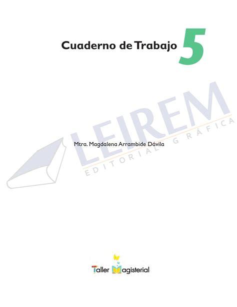 cuaderno de trabajo 5o by editorial grafica leirem issuu