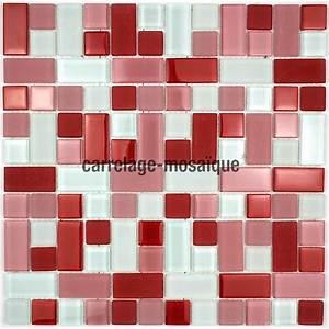 Mosaique Piscine Pas Cher : mosaique pas cher en verre 1m2 mod le cubicrouge ~ Premium-room.com Idées de Décoration