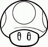 Mario Coloring Super Toad Mushroom Popular sketch template