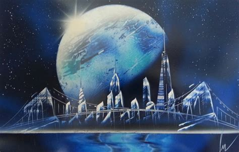 Spray Paint Art New York Space Space Painting