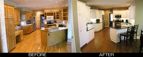 transformed  plain golden oak  stunning white cabinet reface kitchens bathrooms