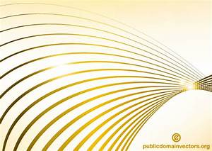 Abstract Golden Wave Line Background Vector | 123Freevectors