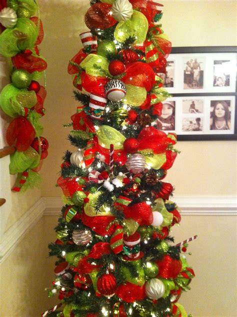 deco mesh decorated christmas trees deco mesh garland