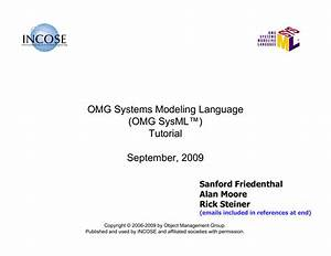 Omg Systems Modeling Language  Omg Sysml U2122  Tutorial