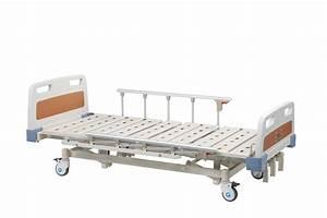 Folding Adjustable Medical Manual Hospital Bed Metal For