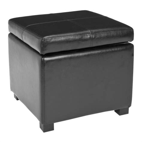 black leather storage ottoman safavieh elizabeth beech wood leather storage ottoman in