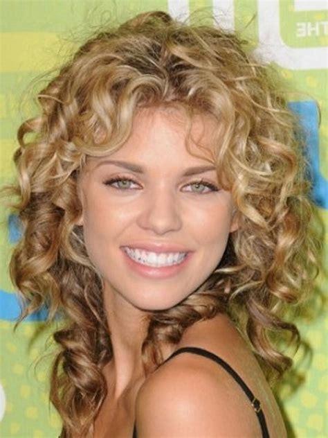 sensational medium length curly hairstyle  thick hair