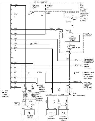 Honda Accord Air Conditioner Wiring Diagram