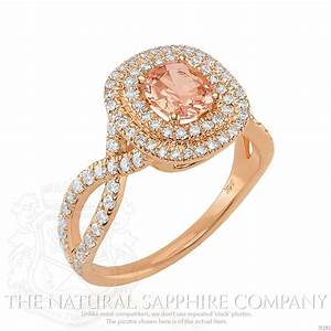 Peach sapphire why peach is hot for engagement rings for Peach wedding ring