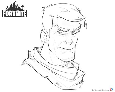 Fortnite Coloring Pages Character Warmup Art Work