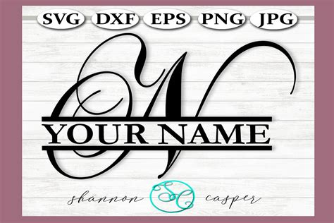 split monogram letter  single letter file  svgs design bundles