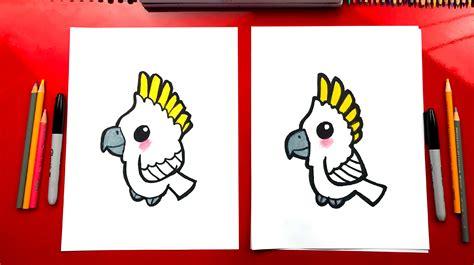 draw  cartoon cockatoo art  kids hub
