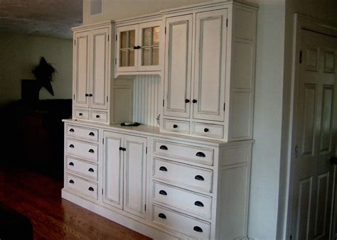 Handmade White Kitchen Hutch By Blackington Furniture