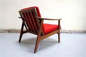 Fauteuil Années 50 : vendu fauteuil scandinave chauffeus design ann es 50 60 70 mad men mobilier vintage teck ~ Dallasstarsshop.com Idées de Décoration