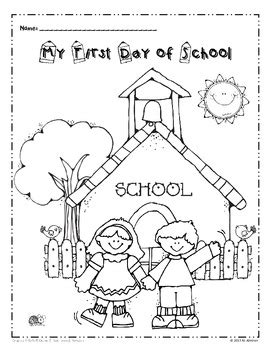 day  school coloring page freebie tpt