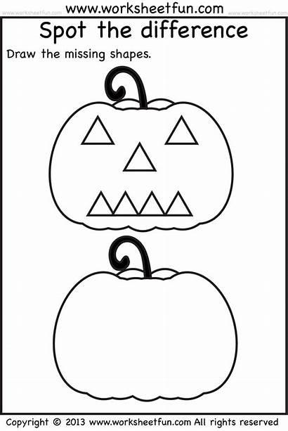 Halloween Preschool Worksheets Printable Printables Activities Kindergarten