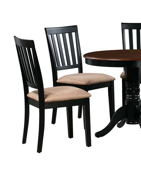 set   kitchen dining side chairs  soft padded seat