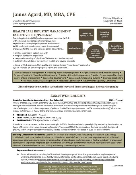 22192 best resume exles best healthcare resume award winner resume exles