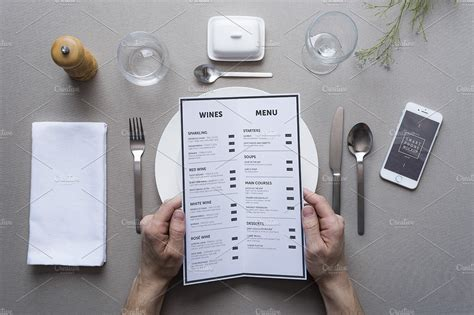 Here i am putting forward a free restaurant menu / flyer mockup that can be used for both commercial and personal projects, also can be displayed for a client and on a website of café/restaurant to show. Restaurant menu mockup ~ Print Mockups ~ Creative Market
