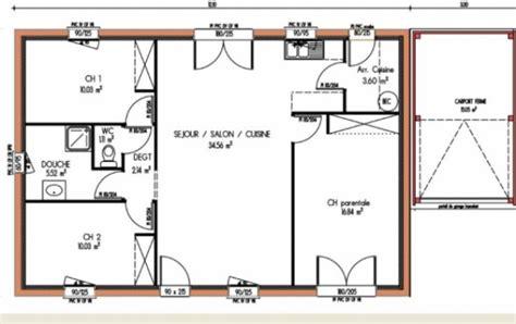 plan de maison 3 chambres plan et photos maison 3 chambres de 84 m