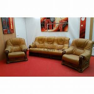 ensemble salon stylise cuir canape 3 places 2 fauteuils With ensemble canapé 3 places et 2 fauteuils