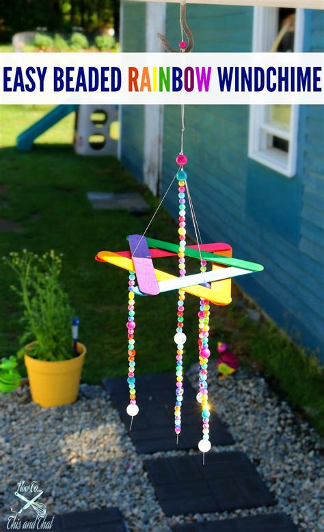 easy wind chime kids craft    cute addition